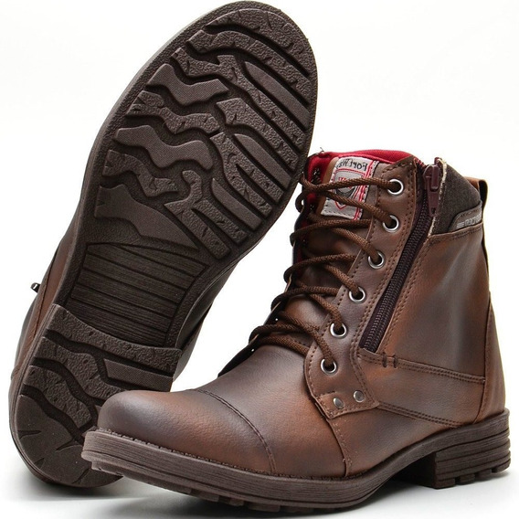 Sapato Bota Coturno Com Ziper Lateral 12x Sem Juros + Frete