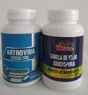 Artrovida (coindrotina /glucosamina)+ Canela De Velho ++.