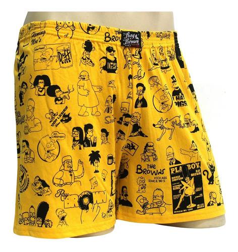 Imagem 1 de 1 de Cueca Samba Canção Unissex Simpsons Ray Brown