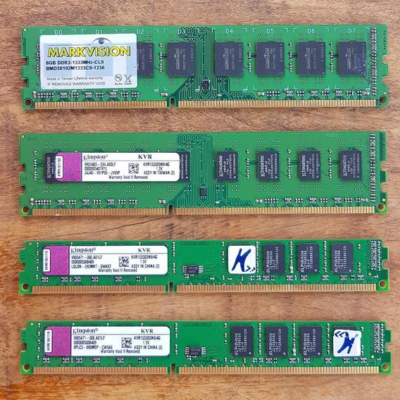Kit Memória Kingston Ddr3 20gb (3x4gb+8gb) 1333mhz Cl9