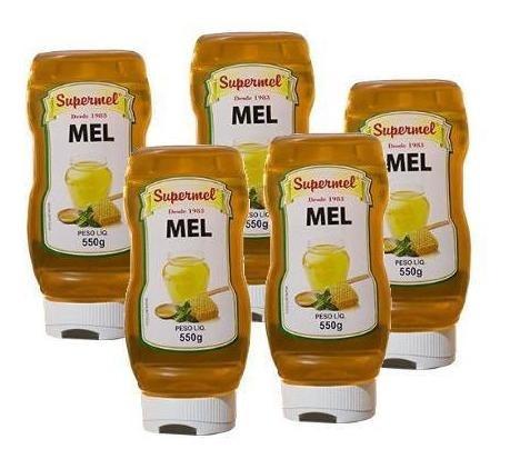 Kit Com 5 Un. De Mel Em  Bisnaga 550 Gramas