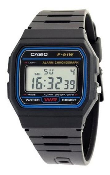 Lote De 10 Relojes Casio F91 Negro Unico Contra Agua Mayoreo