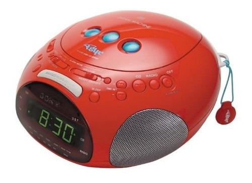 Sony Icf-cd831 Psyc Radio Reloj / Reproductor De Cd (rojo)