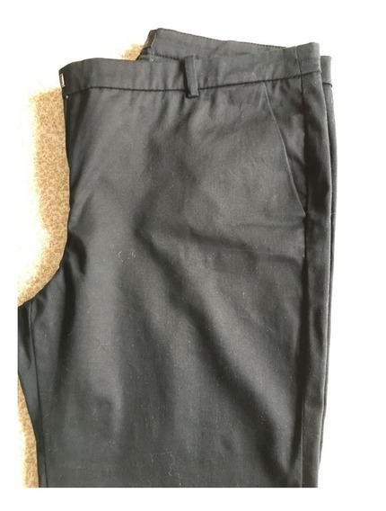 Pantalón De Vestir Mango Negro Talle 40