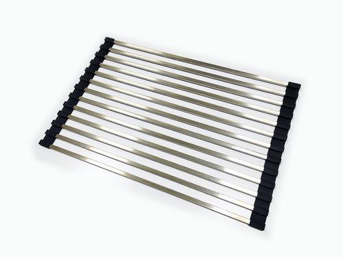 Esteira Escorredor Multiuso Descanso Panelas Inox Dobrável