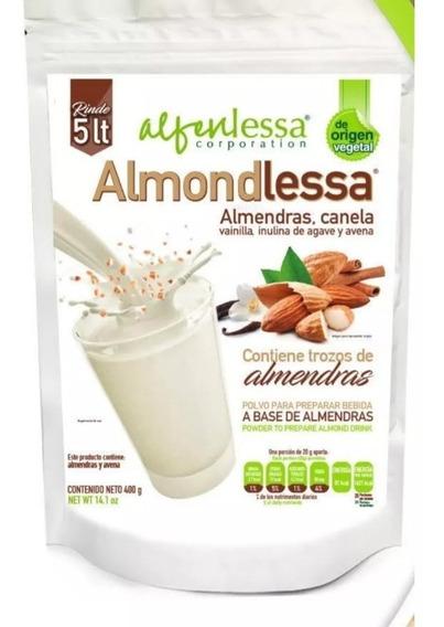 Bebida Almendra Leche En Polvo Sin Azúcar Vegana Avena 400g