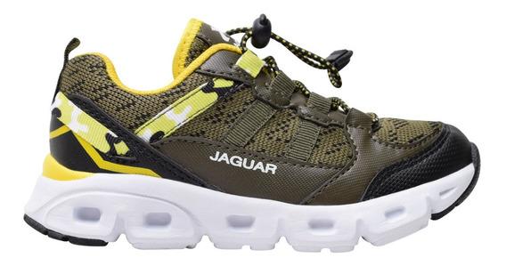 Zapatilla Jaguar Kids 3010 Verde T 28 29 30 31 32 33 34 35