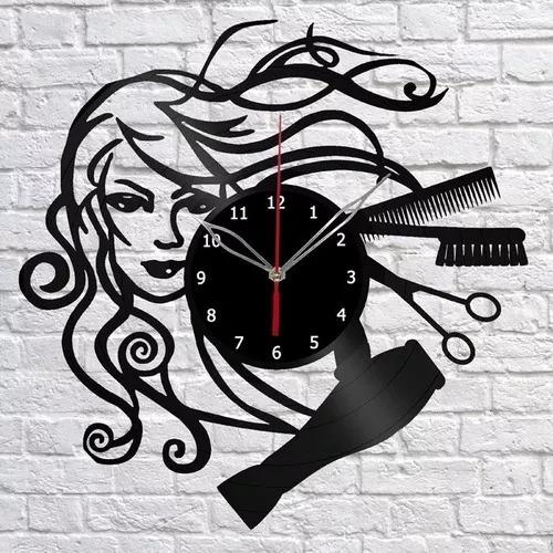 Imagem 1 de 1 de Salão De Beleza Cabeleireiro Relógio Parede