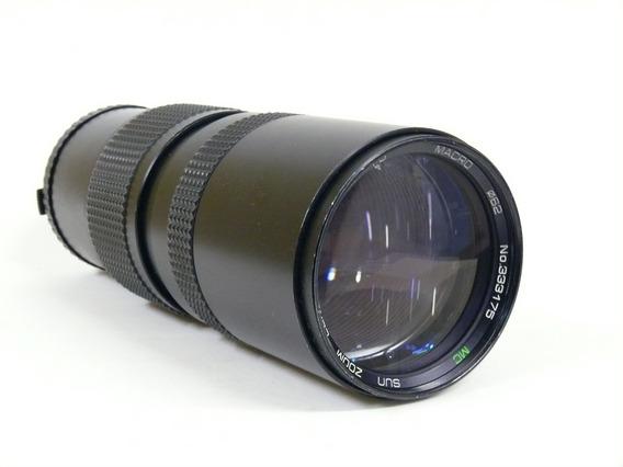 Objetiva Sun Zoom 85-300mm 1:5 P/ Olympus Om