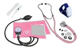 Kit Academico Enfermagem Premium Estetoscopio+5itens Combo