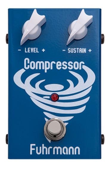 Pedal Compressor Fuhrmann Cm02 Azul Efeito Compressor Transparente