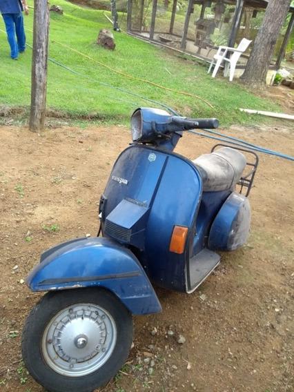 Vespa Px200 Azul Sem Motor E Pneu Traseiro