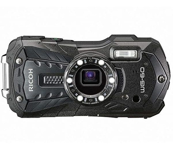 Camara Ricoh Wg-60 Waterproof Digital 2.7 Lcd Wg-60 Black ®