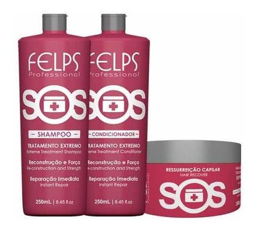 Felps Kit Duo Sos 2x250ml + Máscara 300g Sos + Brinde