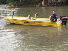 Barco De Alumínio Calaça Pro Fisnhing 600 De 6 Metros