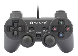 Control Usb Pc Joystick Laptop Gamer Vibracion Naceb Alambrico Doble Palanca