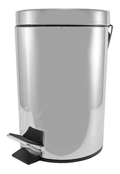 Lixeira Inox Polido Com Pedal 3 Litros 5019
