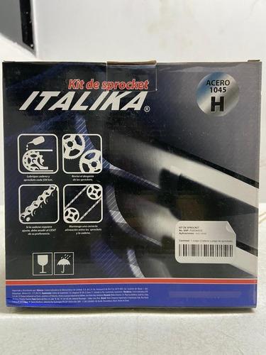 Imagen 1 de 6 de Kit Sprockets Y Cadena Itálika 150z Y 150sz . F0203ks22
