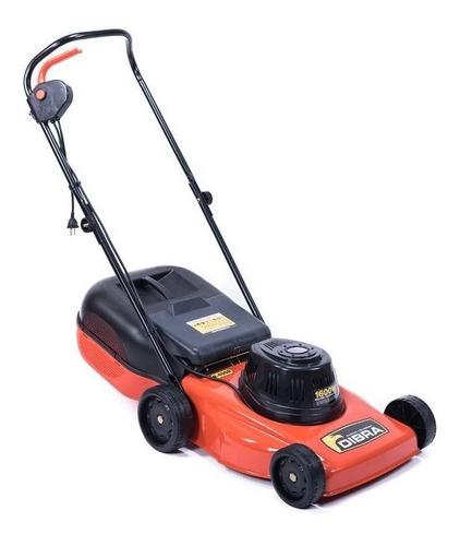 Cortadora de pasto eléctrica Dibra R45 con bolsa recolectora 1600W naranja y negra 220V