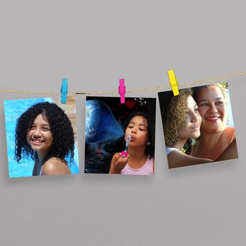 Revelação De 5 Fotos Polaroid + Pregador Varal De Fotos