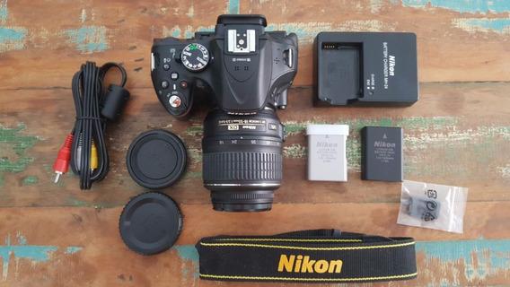 Nikon D5200 Com Lente 18-55mm E 2 Baterias
