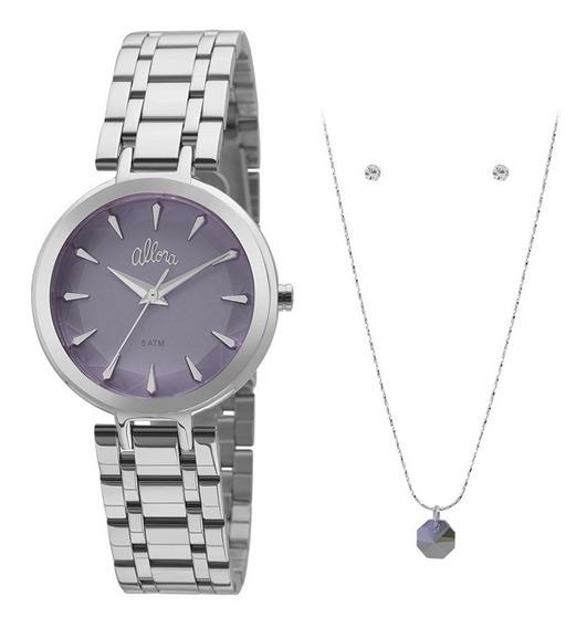 Kit Relógio Allora Feminino Al2036flm/k3a C/ Garantia E Nf
