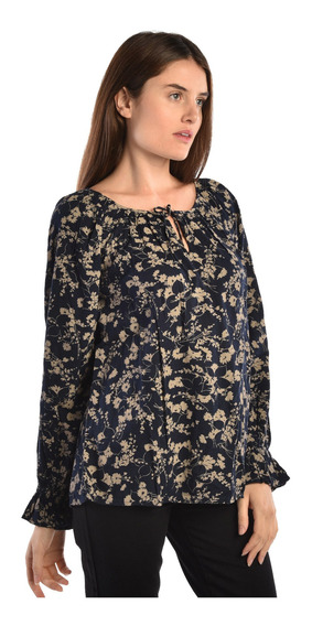 Blusa Chaps Azul 207722868-2xcw Mujer