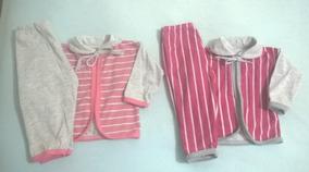 2 Pagões + 2 Pijamas P/ Recém Nascido Menino Ou Menina