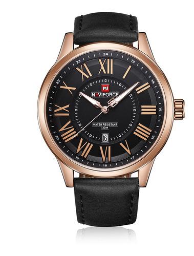 Naviforce Marca De Moda Homens Relógios 3atm Resistente À