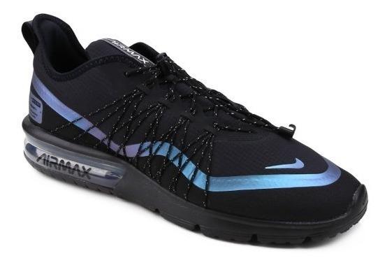 Tênis Nike Air Max Preto Sequent 4 Utility. Original