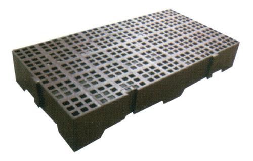 Piso Estrado Plástico Alto Palete Pallet Reforçado 82x41x13