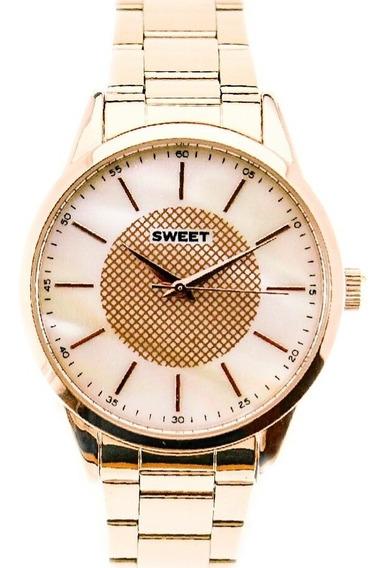 Reloj Sweet 7110r Acero Madre Perla Garantía Tienda Oficial