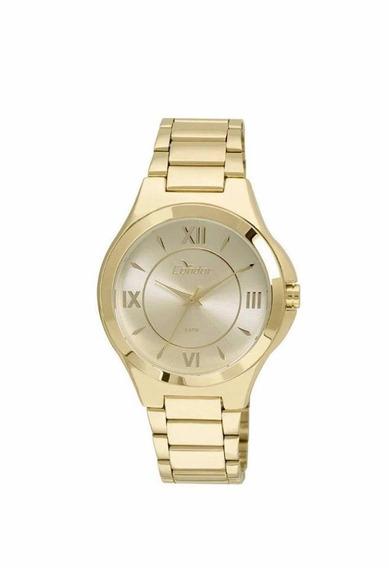 Relógio Condor Feminino Dourado Números Romanos