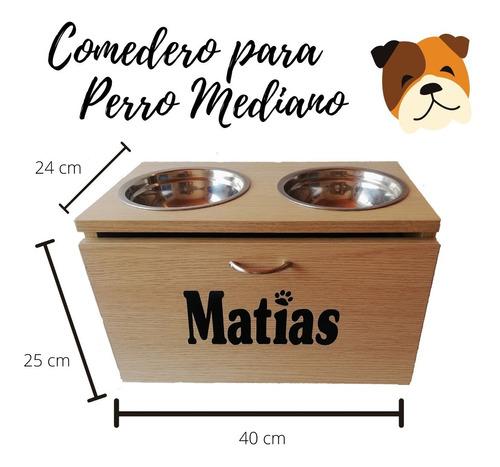 Comederos Perro Madera Elevado