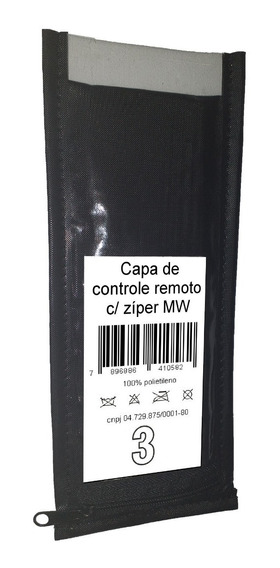 Capa De Controle C/ Zíper 14 Unidades