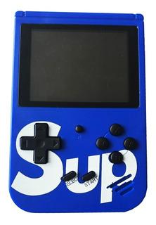 Mini Gamebox Sup Consola Portátil 400 Juegos 2 Players Azul