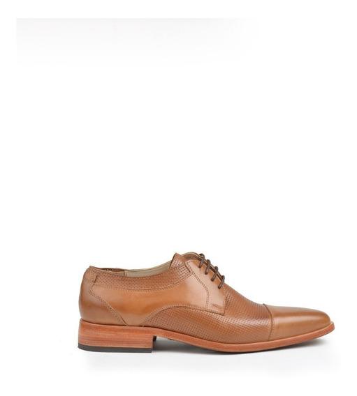 Zapatos De Hombre De Cuero Vacuno Picado Gon - Ferraro -
