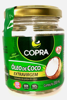 Vidros Óleo De Coco Extravirgem 200ml Copra In Natura 6