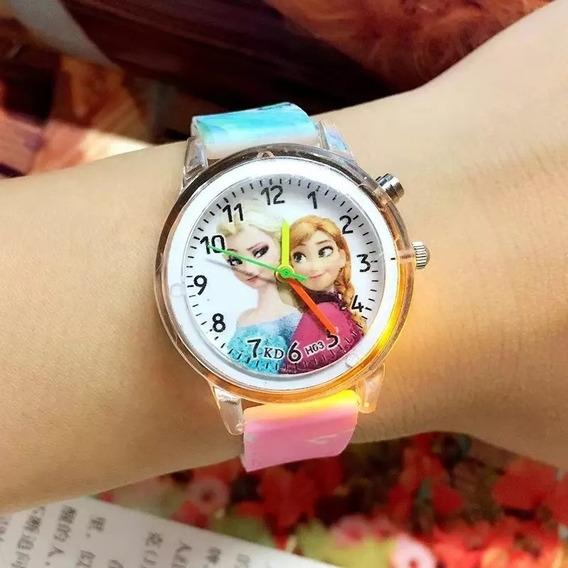Relógio De Pulso Infantil Criança Frozen Ana E Elza