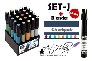 Marcadores Chartpak- Set J + Blender De Regalo