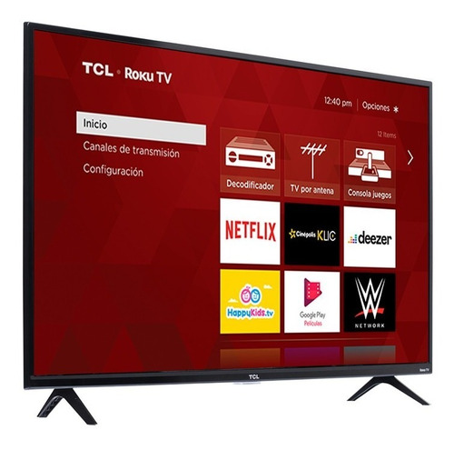 Pantalla Tcl De 40  Con Roku Tv Led 40s331-mx