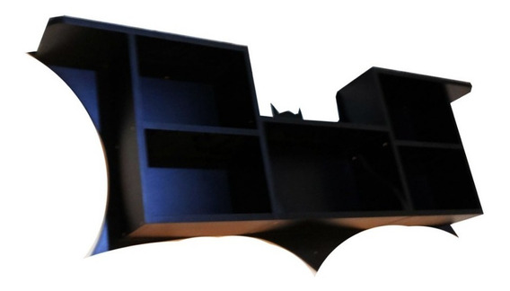 Prateleira Decorativa Batman - Com 5 Nichos + Brinde