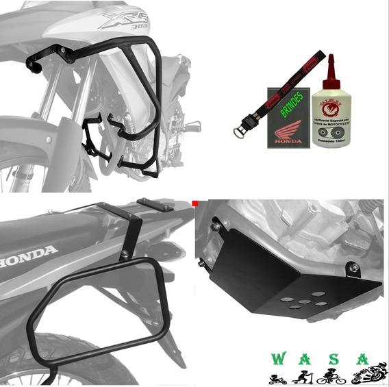 Kit Xre300 Protetor Motor/carenagem Carter Afastador Alforge