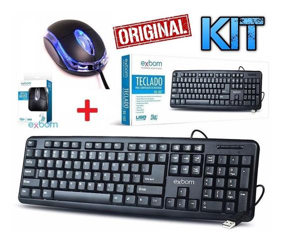 Kit Teclado + Mouse Óptico Usb Pc Computador Original Gamer