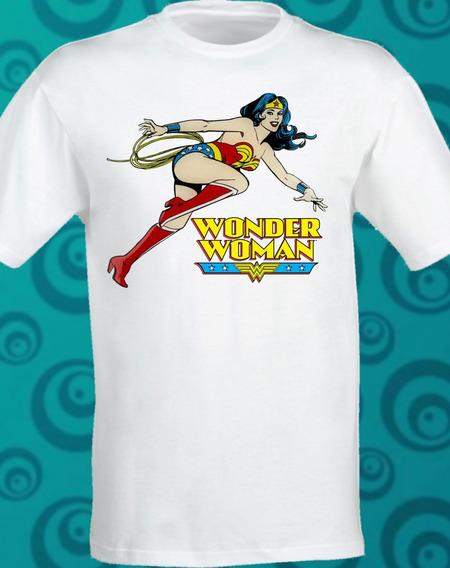 Playera Wonder Woman Classic Sublimada Dc Comic 132