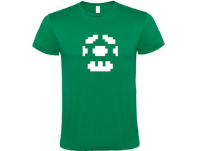 Camiseta Estampada Honguito Verde Mario Bros