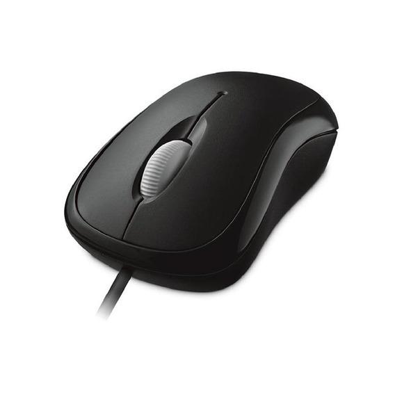 Mouse Óptical Basic Com Fio Usb Preto Microsoft - P5800061