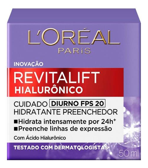 Loreal Revitalift Hialurônico Creme Antirrugas Fps 20 49g