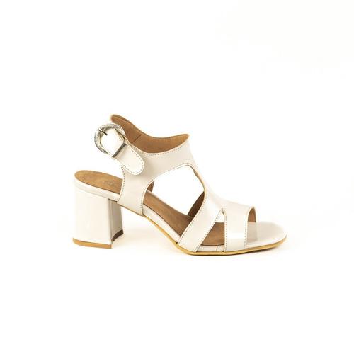 Zapato Lucerna Sandalia Cuero Charol Tacon Blanco 6bgyfY7