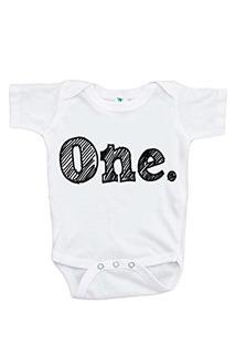 Custom Party Shop Unisex Babys Novedad First Birthday Onepie